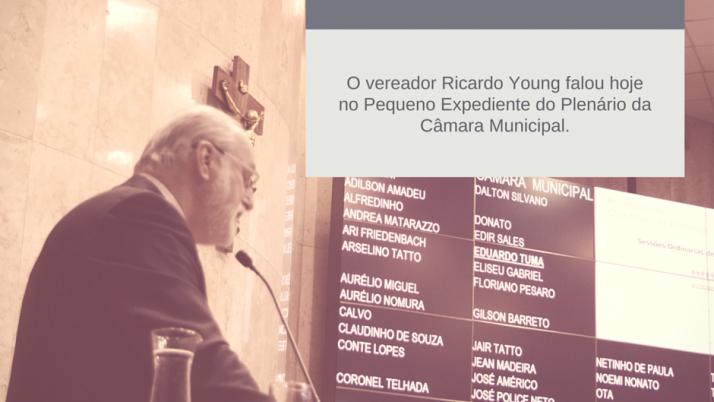 Ricardo Young comenta a falta de comprometimento de Haddad