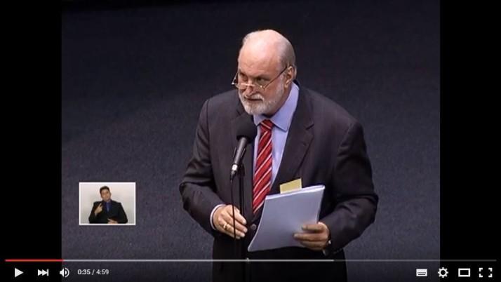 Vídeo: Pronunciamento na Sessão Plenária