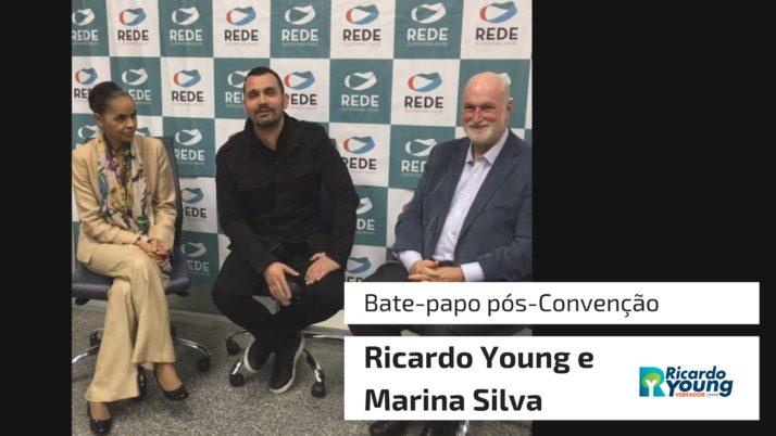 Vídeo: Bate-papo pós-Convenção com Ricardo Young e Marina Silva